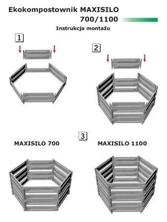 Ekokompostownik MAXISILO - 700 l