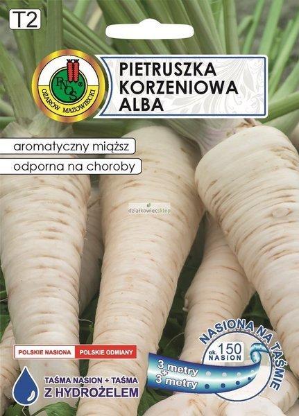 Pietruszka korzeniowa Alba (6 m) - nasiona na taśmie z hydrożelem
