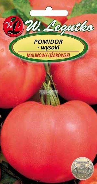 Pomidor gruntowy wysoki - Malinowy Ożarowski - owoce duże (1 g)