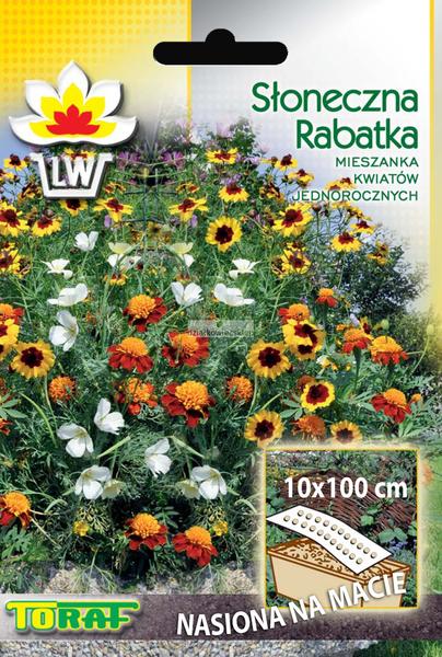 Słoneczna rabatka (mata 10 x 100 cm) - nasiona na taśmie